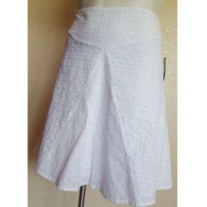Lauren Ralph Lauren A-Line Eyelet Skirt 14 12P